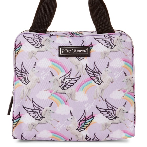 Betsey Johnson Handbags - Betsey Johnson Unicorns & Rainbows Insulated Tote